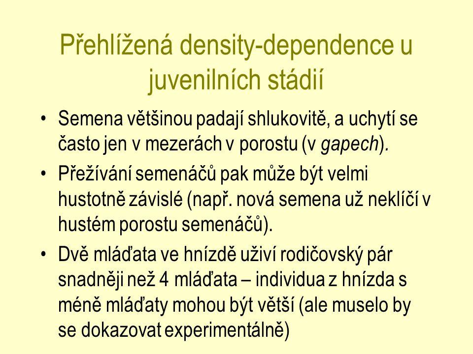 Přehlížená density-dependence u juvenilních stádií