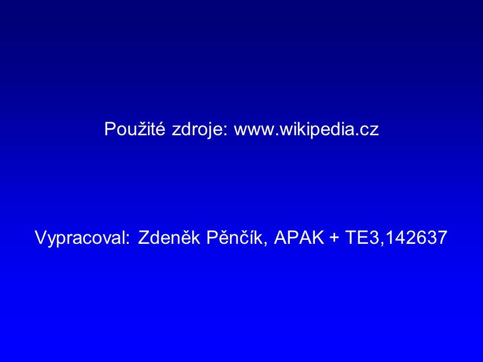 Použité zdroje: www.wikipedia.cz