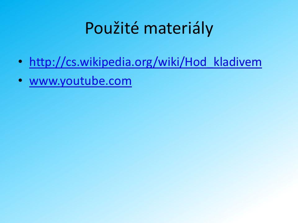 Použité materiály http://cs.wikipedia.org/wiki/Hod_kladivem