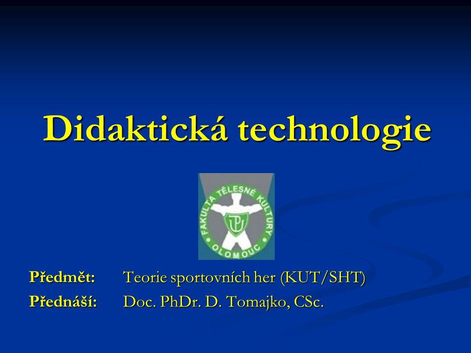 Didaktická technologie