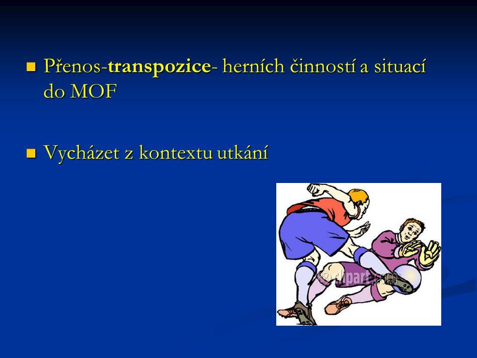 Přenos-transpozice- herních činností a situací do MOF