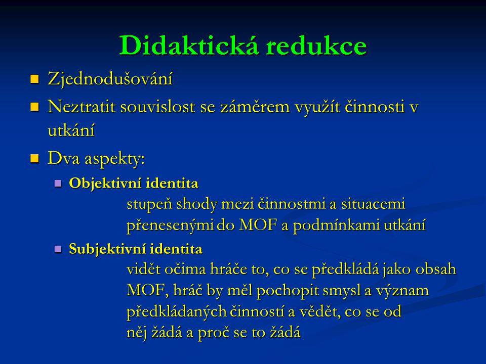 Didaktická redukce Zjednodušování