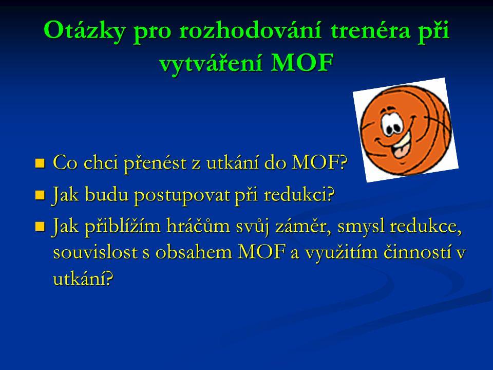 Otázky pro rozhodování trenéra při vytváření MOF