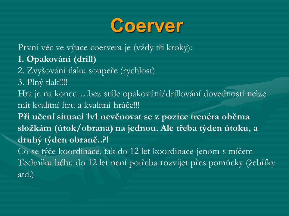 Coerver První věc ve výuce coervera je (vždy tři kroky):