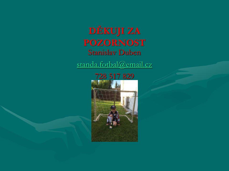 děkuji za pozornost Stanislav Duben standa.fotbal@email.cz 728 517 829