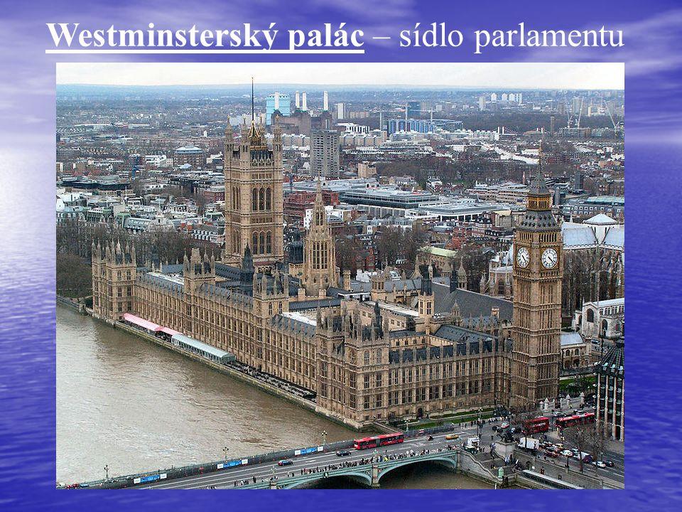 Westminsterský palác – sídlo parlamentu