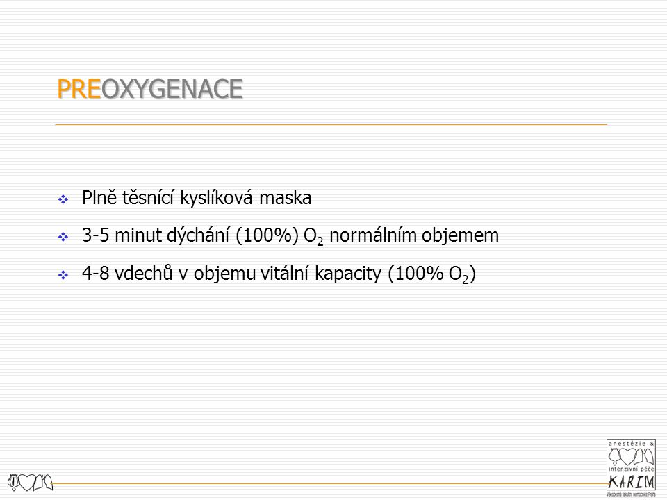 PREOXYGENACE Plně těsnící kyslíková maska