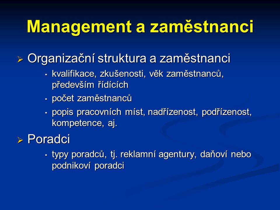 Management a zaměstnanci