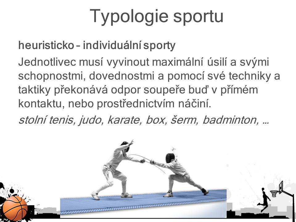 Typologie sportu