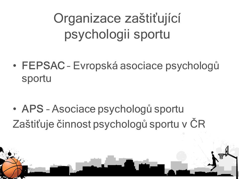 Organizace zaštiťující psychologii sportu