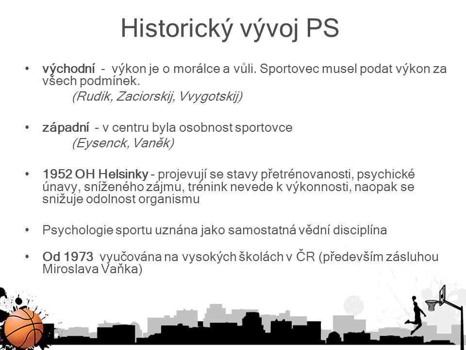 Historický vývoj PS východní - výkon je o morálce a vůli. Sportovec musel podat výkon za všech podmínek.