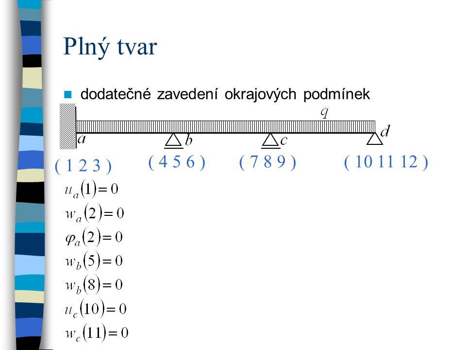 Plný tvar dodatečné zavedení okrajových podmínek ( 4 5 6 ) ( 7 8 9 ) ( 10 11 12 ) ( 1 2 3 )