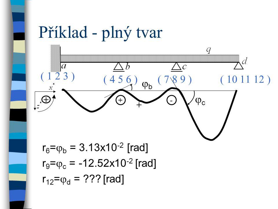 Příklad - plný tvar ( 1 2 3 ) ( 4 5 6 ) ( 7 8 9 ) ( 10 11 12 ) jb jc