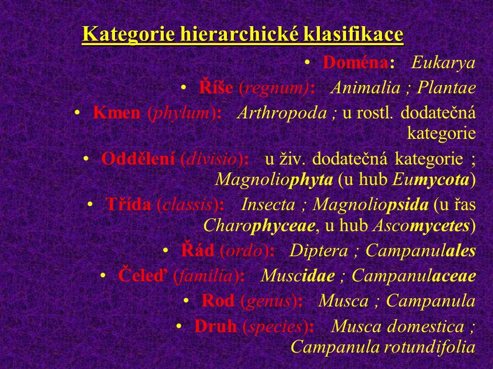 Kategorie hierarchické klasifikace