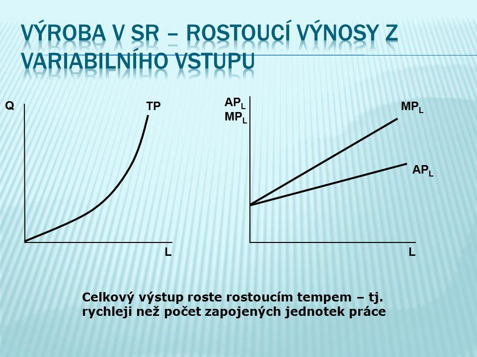 Výroba v SR – rostoucí výnosy z variabilního vstupu