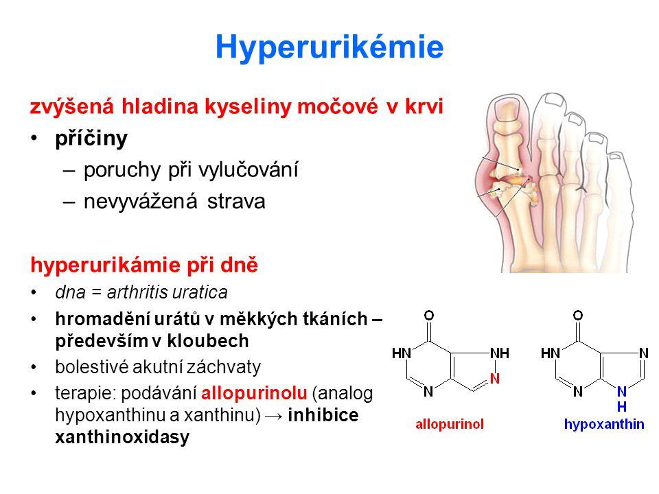Hyperurikémie zvýšená hladina kyseliny močové v krvi příčiny