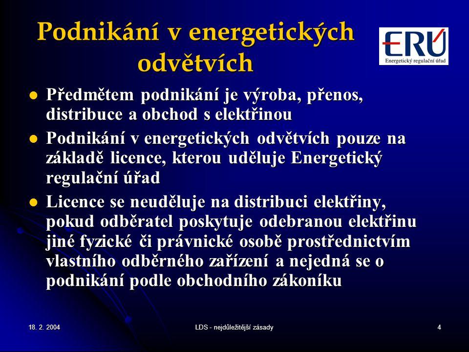Podnikání v energetických odvětvích