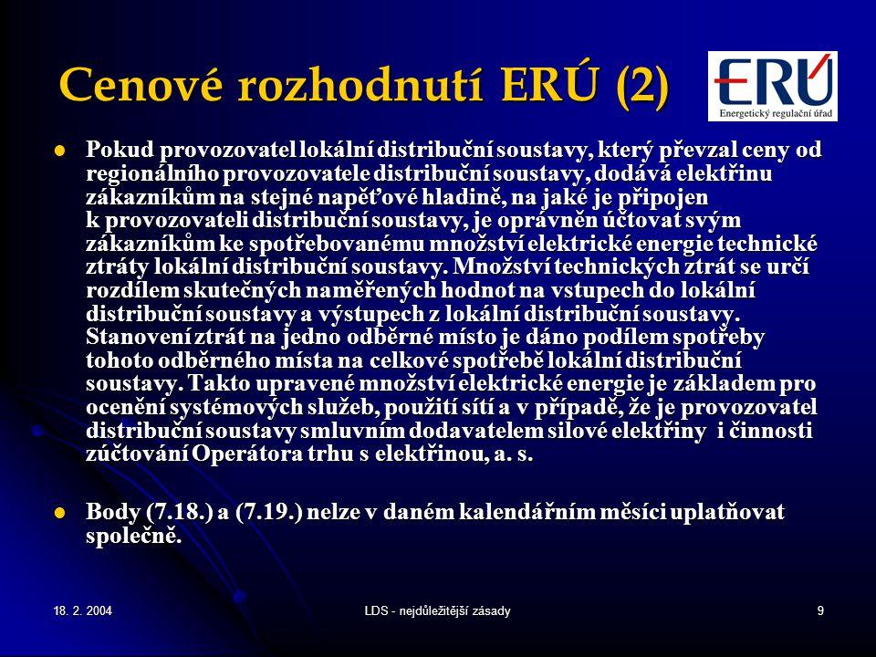 Cenové rozhodnutí ERÚ (2)