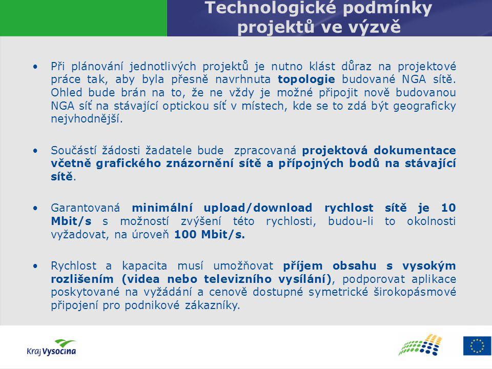 Technologické podmínky projektů ve výzvě