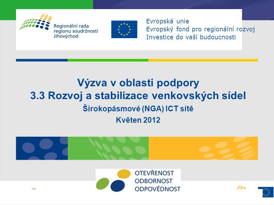 Výzva v oblasti podpory 3.3 Rozvoj a stabilizace venkovských sídel