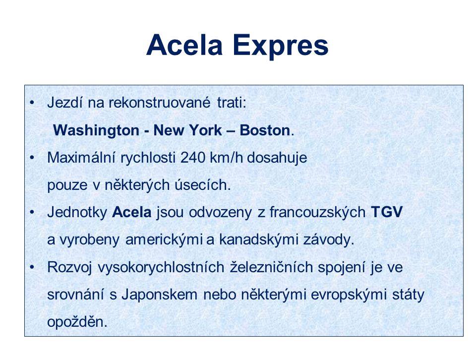 Acela Expres Jezdí na rekonstruované trati: