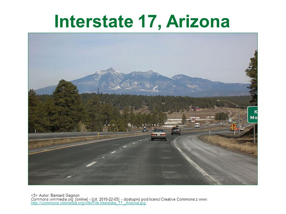 Interstate 17, Arizona <5> Autor: Bernard Gagnon