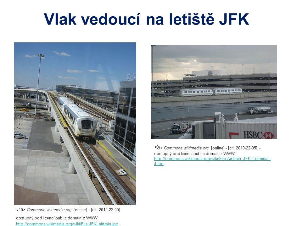 Vlak vedoucí na letiště JFK