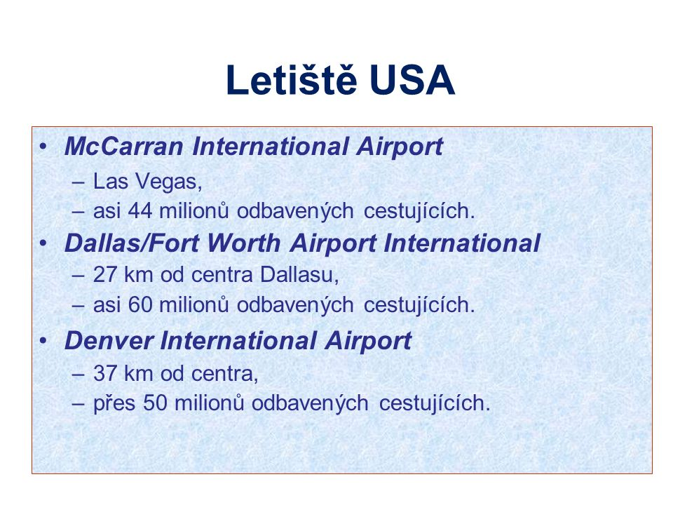 Letiště USA McCarran International Airport