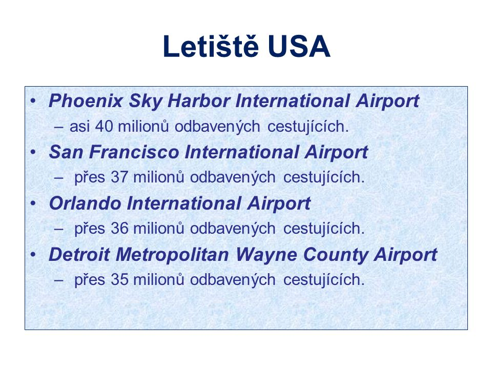 Letiště USA Phoenix Sky Harbor International Airport