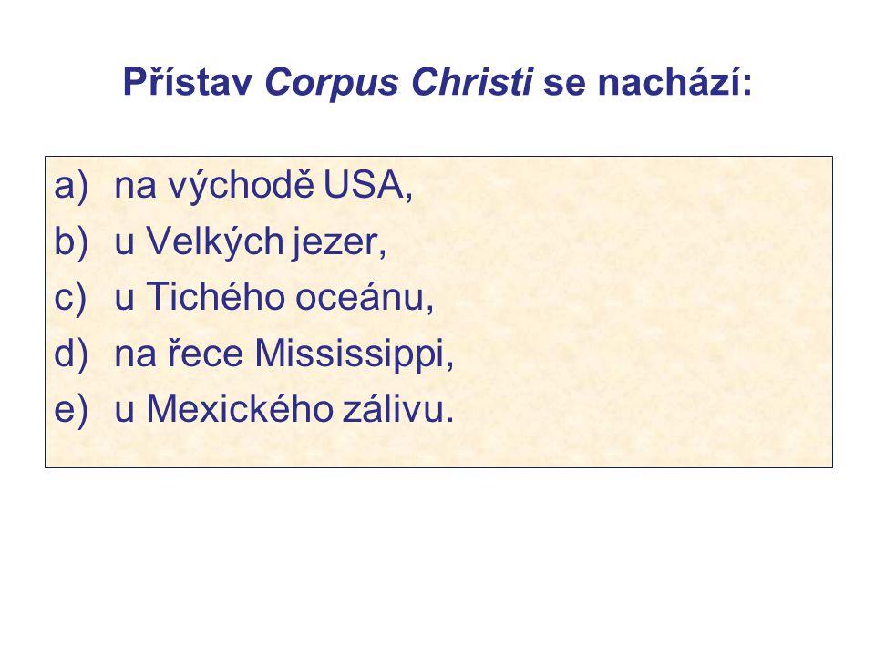 Přístav Corpus Christi se nachází: