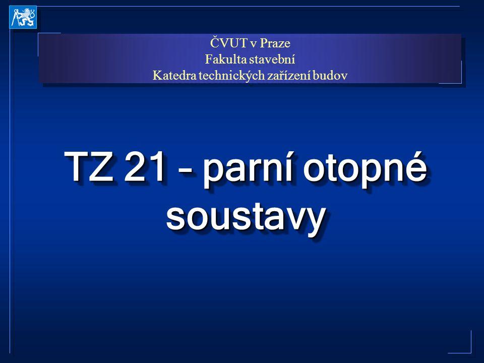 TZ 21 – parní otopné soustavy