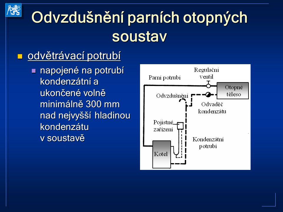 Odvzdušnění parních otopných soustav