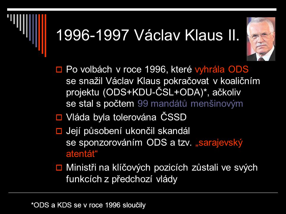 1996-1997 Václav Klaus II.