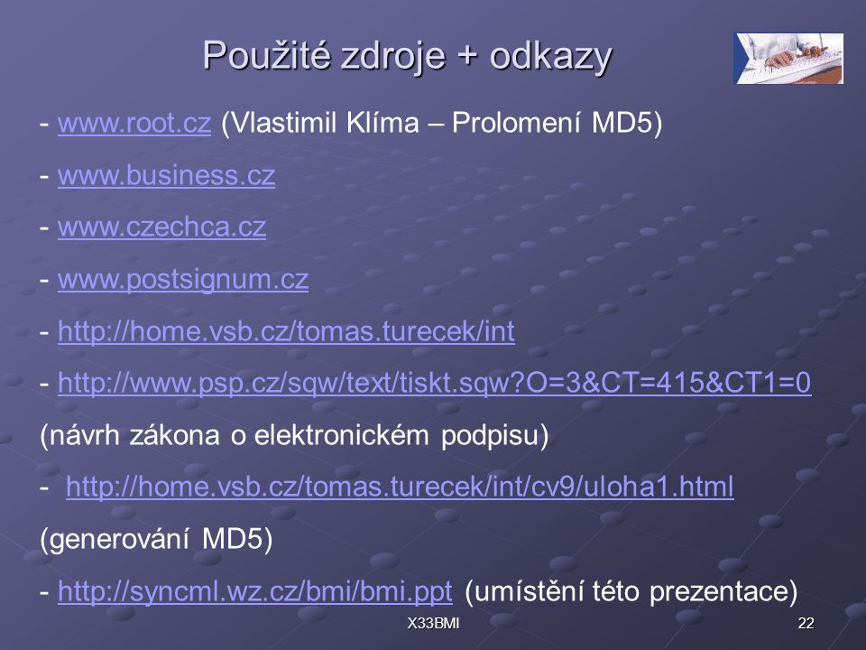 Použité zdroje + odkazy