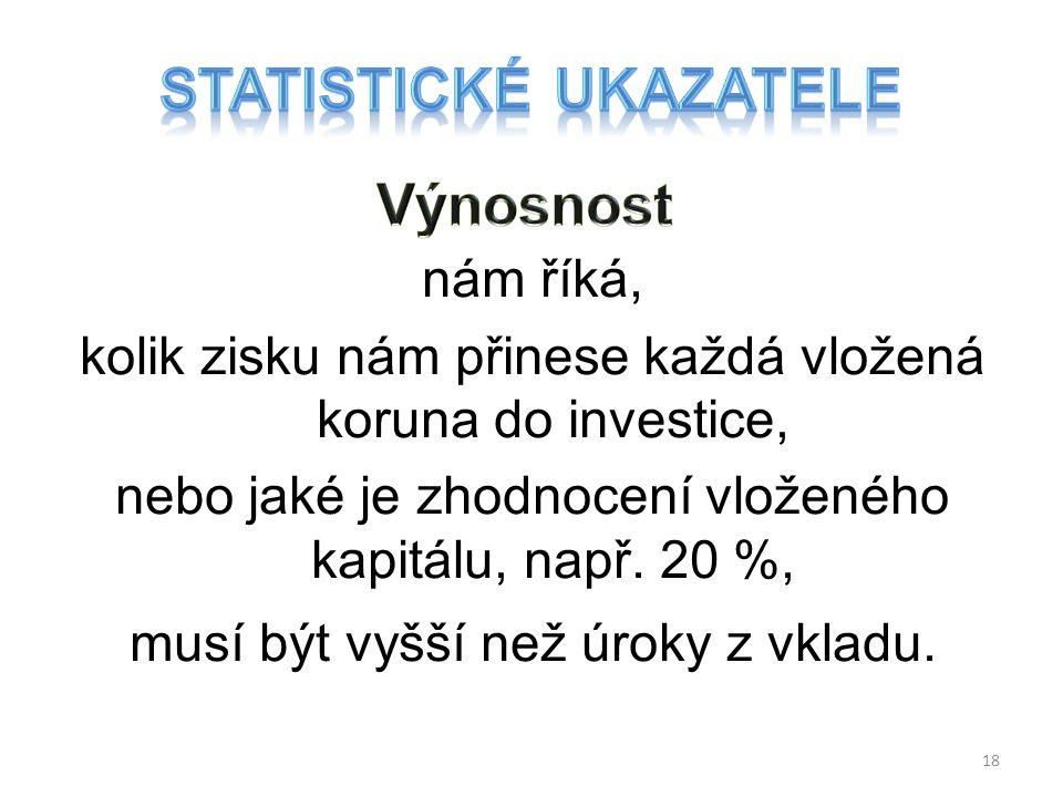 Statistické ukazatele
