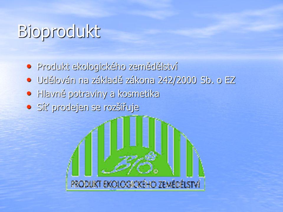 Bioprodukt Produkt ekologického zemědělství