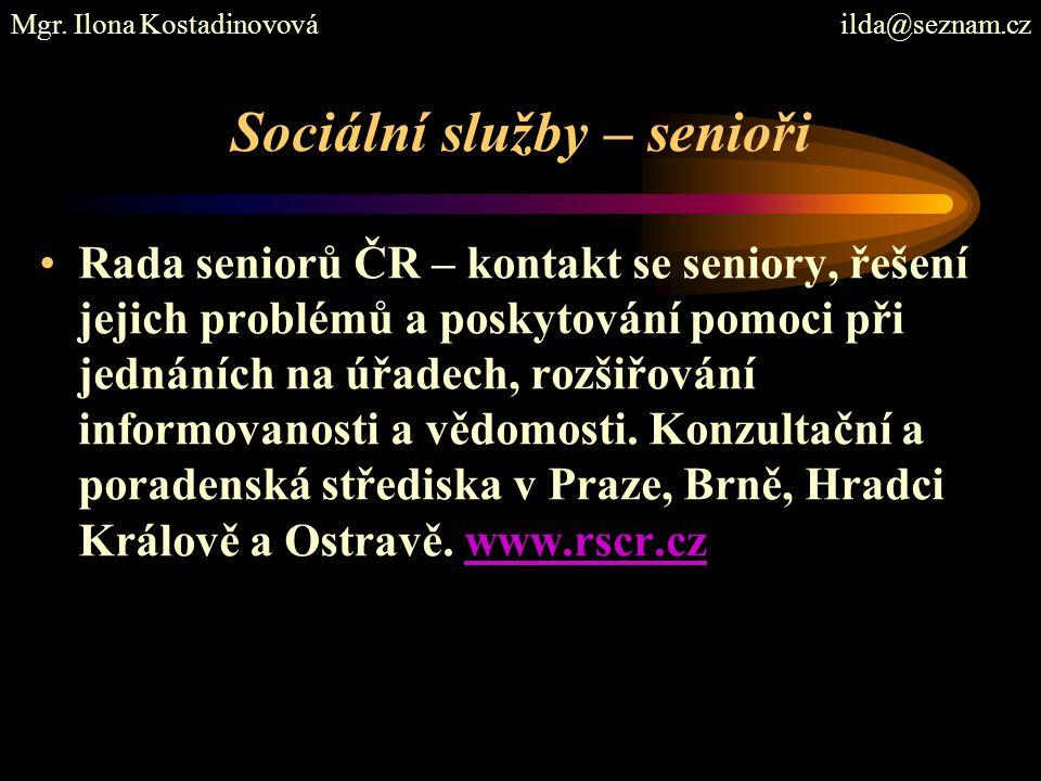 Sociální služby – senioři