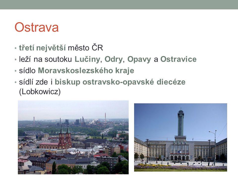 Ostrava třetí největší město ČR