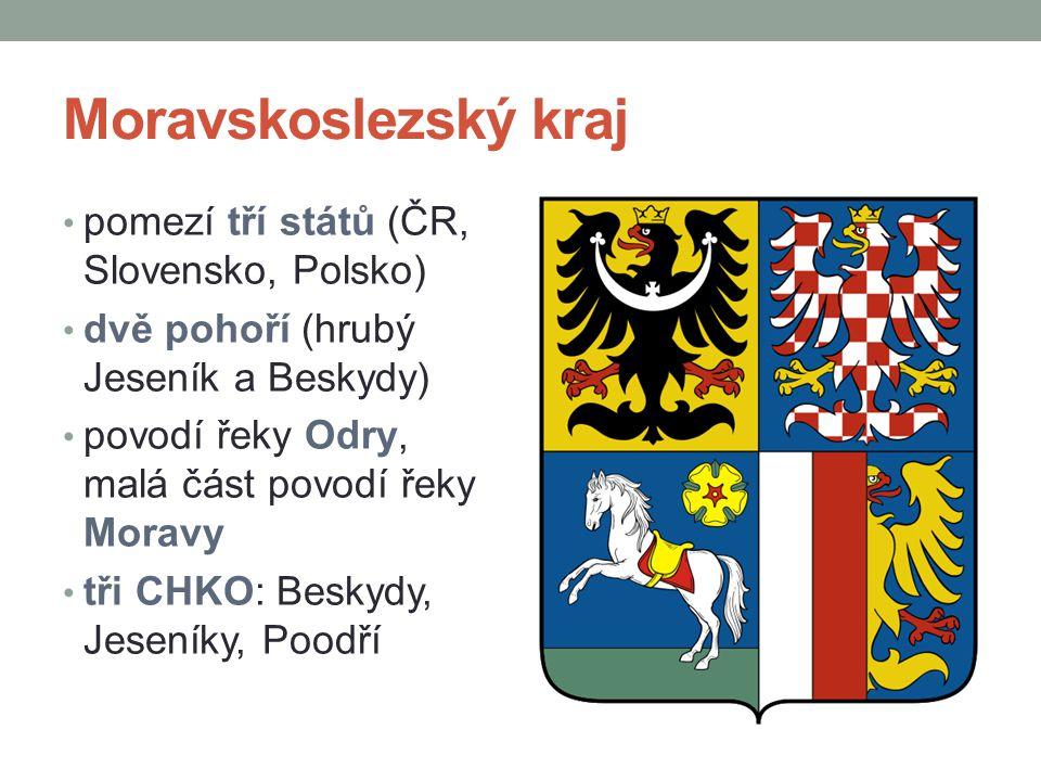 Moravskoslezský kraj pomezí tří států (ČR, Slovensko, Polsko)