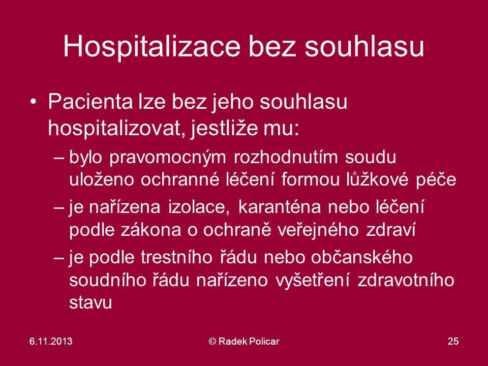 Hospitalizace bez souhlasu