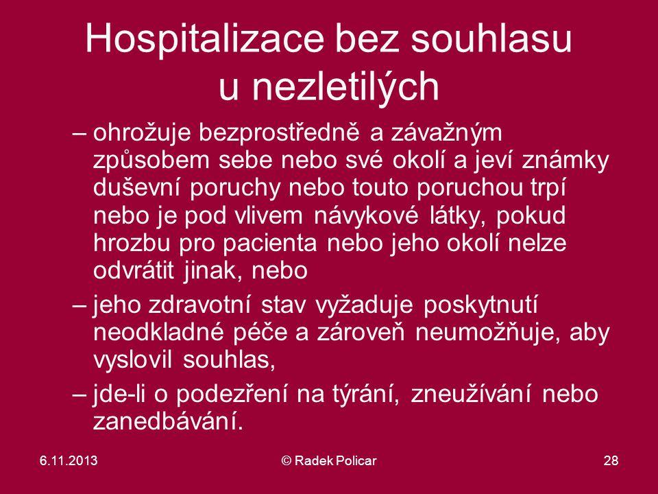 Hospitalizace bez souhlasu u nezletilých