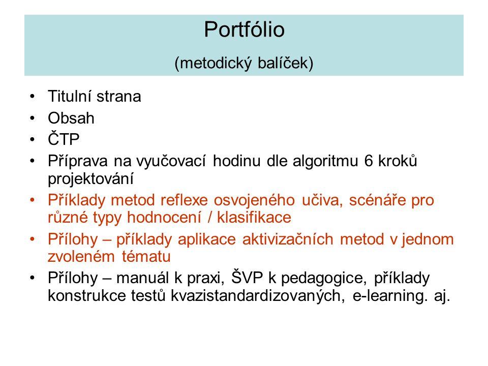 Portfólio (metodický balíček)