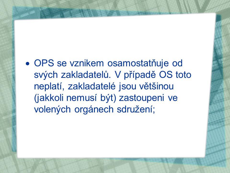 OPS se vznikem osamostatňuje od svých zakladatelů