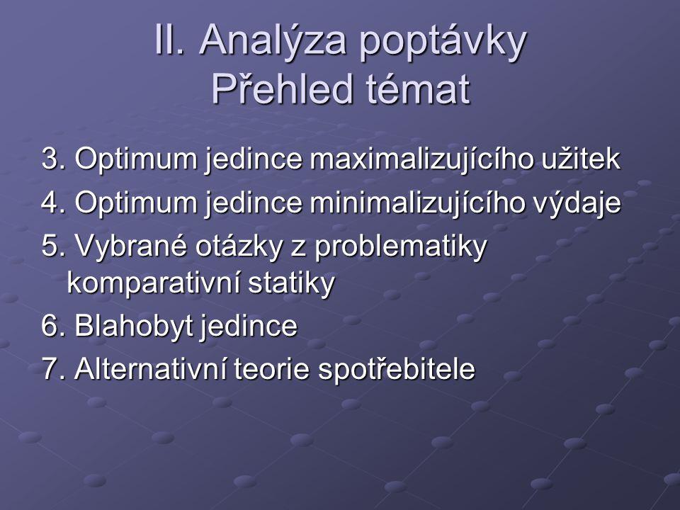 II. Analýza poptávky Přehled témat