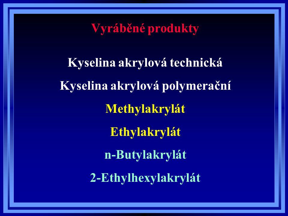 Kyselina akrylová technická Kyselina akrylová polymerační