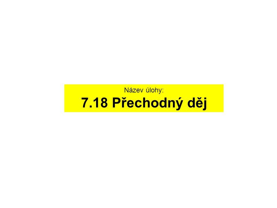 Název úlohy: 7.18 Přechodný děj