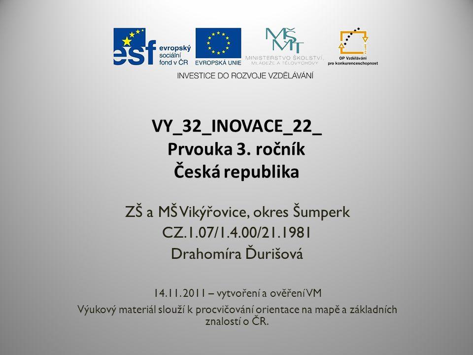 VY_32_INOVACE_22_ Prvouka 3. ročník Česká republika