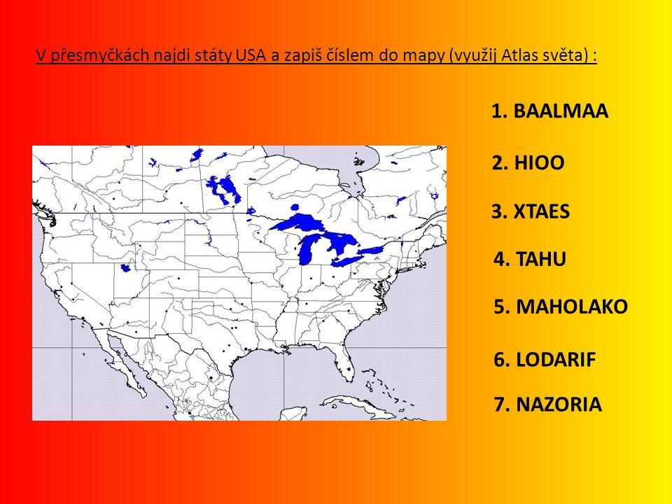 1. BAALMAA 2. HIOO 3. XTAES 4. TAHU 5. MAHOLAKO 6. LODARIF 7. NAZORIA
