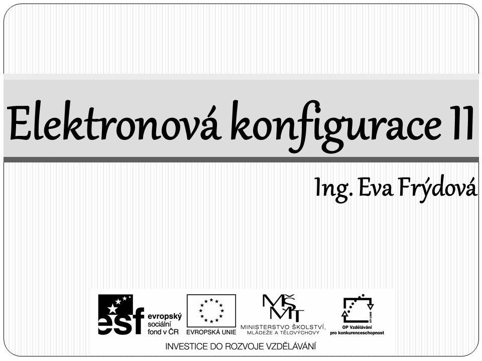 Elektronová konfigurace II