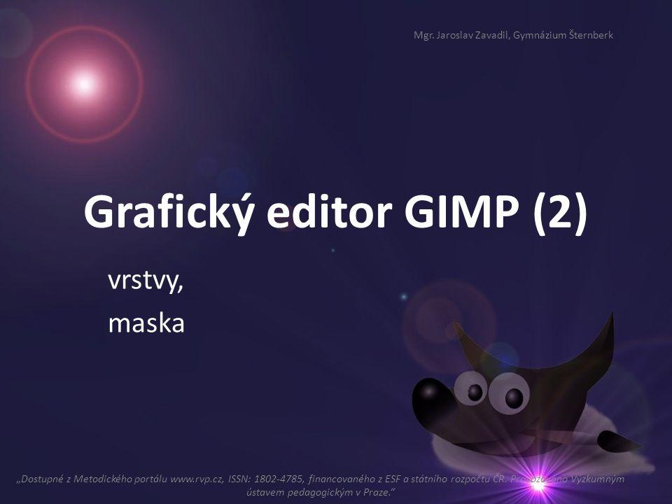 Grafický editor GIMP (2)